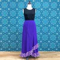 ニットスカートフリル付き NSK-014 紫×水玉