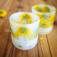 茎付菜の花ランタンキャンドル