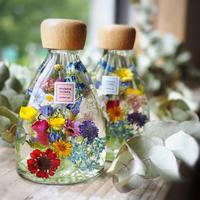 小花のハーバリウム レッド  コチ瓶