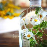花かんざしウイスキー瓶ハーバリウム