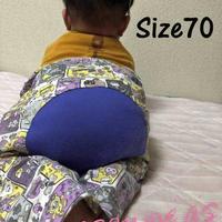 ベビー用モンキーパンツ♡サイズ 70【型紙ダウンロード販売】