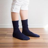 ゴムなししめつけない靴下 杢ネイビー_SO001-NV