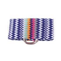 ジグザグIKAT刺繍クラッチ BLUE