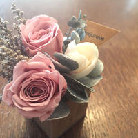*natural Preserved Flowers Arrangement mini* flowers cake*MJ051