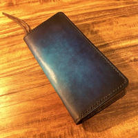 Leather Wallet Ⅵ / Cobalt blue