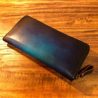 Leather Wallet Ⅳ / Cobalt blue