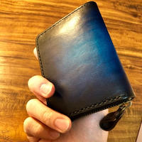 Leather Wallet Ⅲ / Cobalt blue