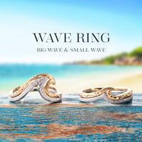 ハワイの美しい波をモチーフにした/ハワイアンジュエリー /ウェーブリング