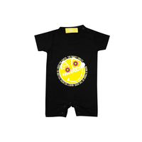 MAKEY SMILEY [ Yellow ] / Rompers[ Black ] 80 size