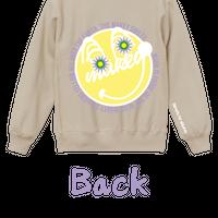 "【数量限定予約販売】""MAKEY SMILEY"" Sweatshirts【Beige】"