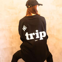 Hi TiME Hi TRIP / Big silhouette T-shirts [ Black ]