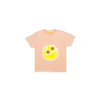 MAKEY SMILEY [ Yellow ] / Kids T-shirts [ Apricot ]