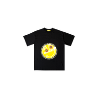 MAKEY SMILEY [ Yellow ]  / Kids T-shirt [ Black ]
