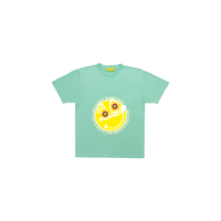 MAKEY SMILEY[ Yellow ] / Kids T-shirts [ Mint green ]