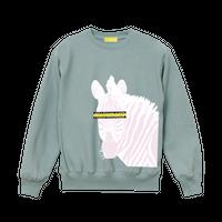 "【数量限定予約販売】""Horse owner"" Sweatshirts【Smoky Green】"