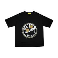【Front】MAKEY SMILEY [ Original ] /  Big silhouette T-shirts [ Black ]