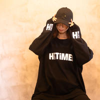Hi TiME Hi TRiP / Big silhouette Long sleeve T-shirts [ Black ]