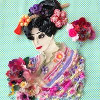 """刺繍 ビーズ  """"花を愛でる"""" 〜Appreciate flowers〜"""