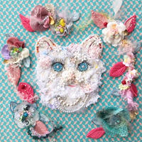 """刺繍 アート ビーズ 猫 """"Miaou Miaou  〜Les fleurs〜"""""""