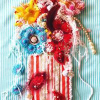 """刺繍 アート ビーズ 花   """"La Vie en Fleurs"""" お花のある暮らし"""
