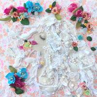 """刺繍 アート ビーズ """"The goddess of flowers"""" 花の女神"""