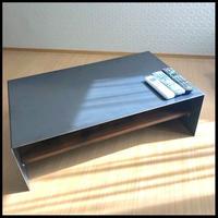 オーダー専用 黒皮鉄のテーブル(W90D45T35)