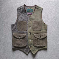 makufuri Multi Tweed Vest〈BlueGreen〉