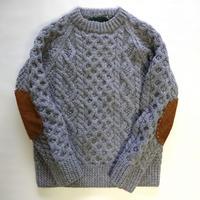makufuri Hand Knit Fisherman<Snow Gray>