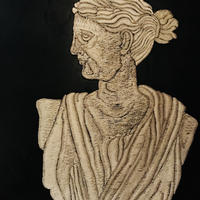 石膏像の女のランプ