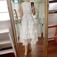 ホワイトドレス リーフレース