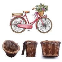 キッズ自転車用 かご ラタンバスケット 自転車 かご バランスバイク ストライダー