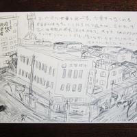 かたよった彦根案内のポストカード 彦根の風景