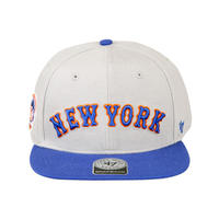 Mets Script Side Two Tone'47 CAPTAIN Gray