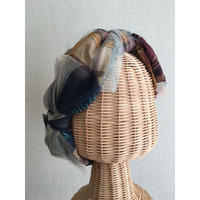 Plaid JQ ribbon/Navy