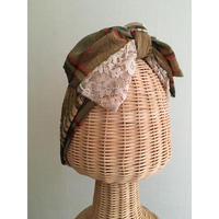 Plaid Lace Ribbon/Beige