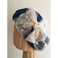 Denim ribbon/Navy