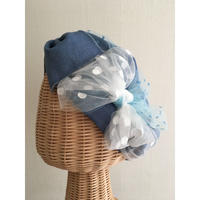 Denim  ribbon /Blue