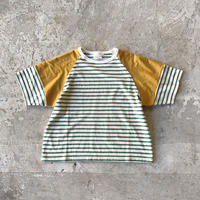 SWOON / ボーダーカットソー sw15-818-520 Mustard S.M.L.XL