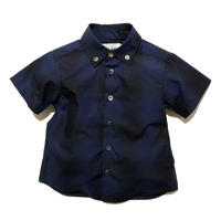 UNLAW オーガニックコットンチェックシャツ(Navy)