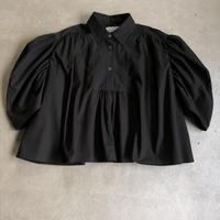 nunuform /ブロードギャザースリーブブラウスnf13-549-001A Black F(WOMENS)