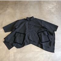 nunuforme / アシンメトリーシャツnf14-554-112A  Charcoal F(WOMENS)