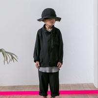 MOUN TEN. / sheersucker jacket MT201012-a black 95.110.125.140
