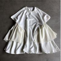 nunuforme / サイドフリルワンピースnf13-422-013A White  F(WOMENS)