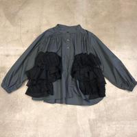 nunuforme / ダブルフリルブラウスnf14-546-001A DarkGray F(WOMENS)