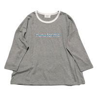 "nunuforme / Exclusive Item ""NOT nunu for me T-shirt"" mb016 TOP GREY  (ウィメンズ,メンズ)"
