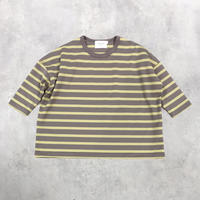 nunuforme / Exclusive Item ULTIMA PARALLELED BORDER TOP MBNF20003 MOCCA LEMON  WOMEN/MEN