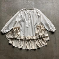 nunuforme / ヘムフリルブラウスnf14-558-001A  White  F(WOMENS)