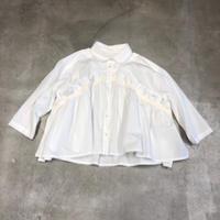 nunuforme / フロントフリルブラウスnf14-553-001  White 155