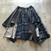 nunuforme / ミックススカート 40-nf16-708-144 Navy×Green 1(155)
