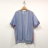 MOUN TEN. / stripe chiffon tunic  21S-MS21-0909c  blue  1(adult)